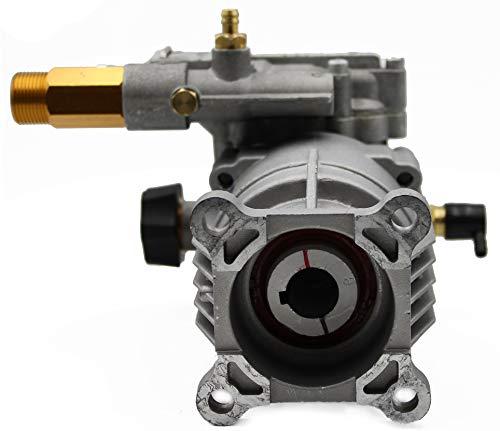 WASPPER ✦ Bomba de Reemplazo Hidrolimpiadora Horizontal 3000 PSI 200 Bar y Bomba de Reemplazo de Hidro Lavadora 6.5 HP ✦ Cabezal de Aluminio, Modelo NR. PA000-PW28/2.5