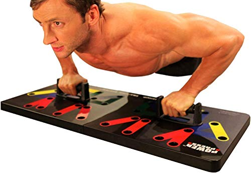 Power Press Original Push Up ~ Color-Coded Push Up Board System (More Positions, More Angles, Better Results)