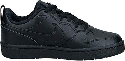 Nike Jungen Court Borough Low 2 (GS) Basketballschuhe, Schwarz (Black/Black/Black 1), 36.5 EU