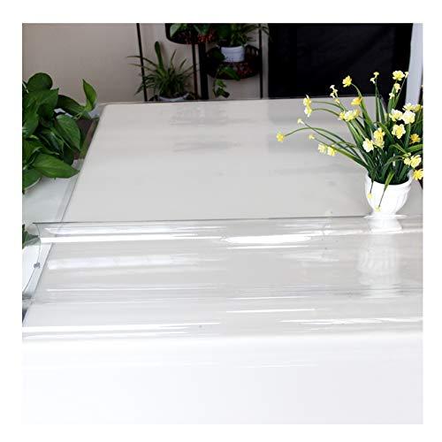 ZWYSL Protector Mesa Estera De Mesa De PVC Mantel Transparente Paño De Plástico 1,5 Mm, 2 Mm Vidrio Blando Plato De Cristal Mantel Transparente (Color : 1.5mm, Size : 60X120CM)