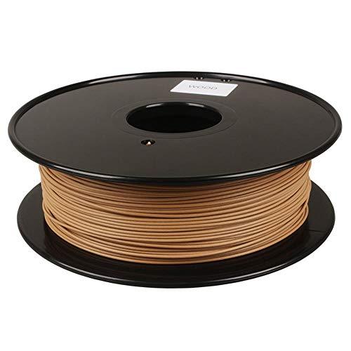 3D Printing Filament 1.75mm, PLA Wood Filament 0.8kg, Natural Wood Powder Added