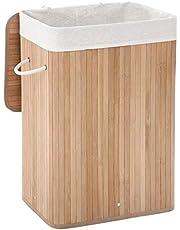 SONGMICS wasmand bamboe wasbox wasbox vouwbare wasbak met verwijderbare katoenen waszak wasbak natuurlijke kleuren rechthoek 72 LCB10Y