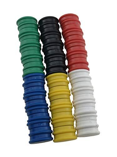 RIKAMA 60 Magnete | Mix | Set aus je 10x Rot, Blau, Grün, Gelb, Weiß und Schwarz | Rund | Haftmagnete | Magnettafel | Whiteboard | Kühlschrank