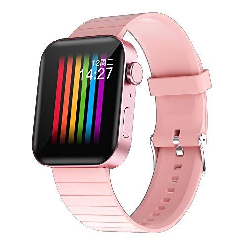 LZXMXR Inteligente Pulsera del Reloj de Bluetooth móvil Inteligente Recordatorio podómetro Android y el iOS (Color : Pink)