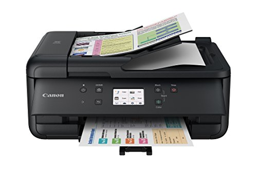 Canon PIXMA TR7520 Wireless Home Photo Office All-In-One Printer with Scanner, Copier and Fax: Airprint and Google Cloud Compatible, Black (Renewed)