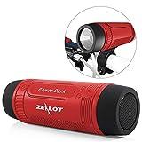 Bluetooth Lautsprecher Outdoor, Zealot Tragbarer Bluetooth Speaker mit LED Taschenlampe, 4000mAh Power Bank