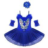 Agoky Vestido de Danza Ballet para Niña Maillot de Patinaje Artístico Diamantes Body Leotardo de...