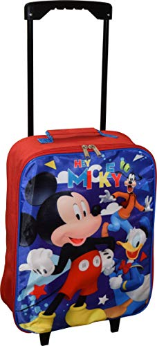 Junior Mickey And The Roadster Racers 15' Collapsible Wheeled Pilot Case - Rolling Luggage