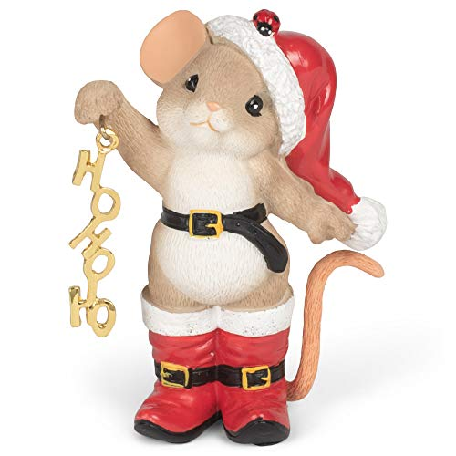 Roman 133492 Mouse in Hat Boots It's Time to Let Your Ho Ho Ho Figurine, 3 inch, Multicolor