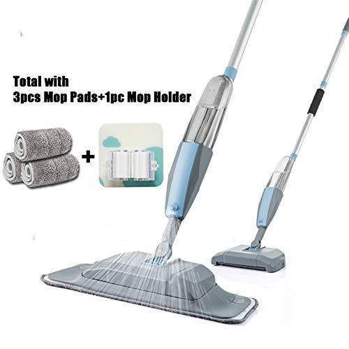 Soehong Mop 3 In 1 Spray Mop Und Kehrmaschine Staubsauger Hartbodenflachreinigungswerkzeug Set Haushaltshand Easy Use Mop (Color : 3 pcs Pads 1 Holder)