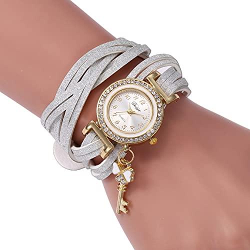 MARSPOWER SC062 Pulsera de Moda de Punto de Terciopelo Coreano pequeños Accesorios Clave Reloj Mujeres niñas