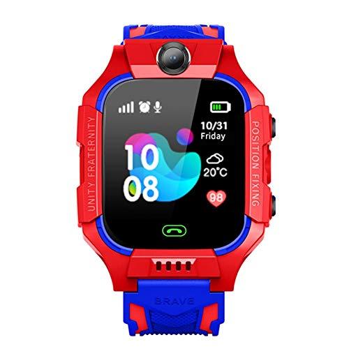 Reloj inteligente para niños y niños, resistente al agua, con GPS, recordatorio de localización de llamadas, para niños, para iOS, Android, color rojo