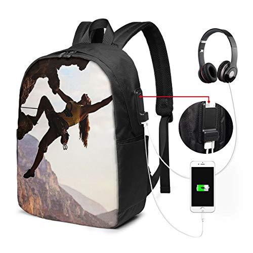 Zaino Antifurto Con Porta USB, Libertà dello sport di montagna dello scalatore Zaino per PC Computer Portatile 17 Pollici Zaino per Laptop Da Uomo Donna per Scuola Business Viaggio