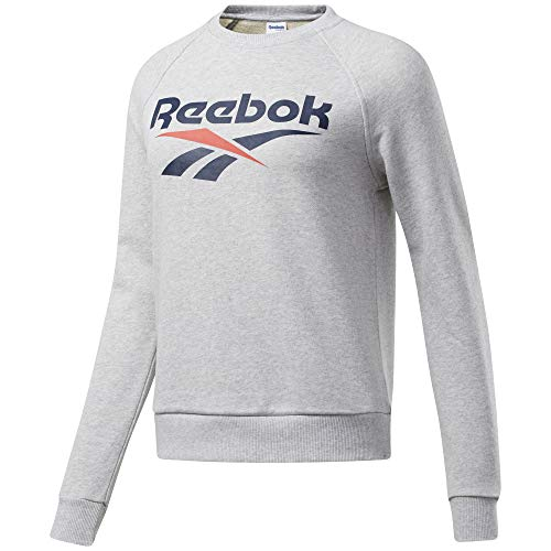 Reebok Classic Vector Crewneck, Light Grey Heather, Large