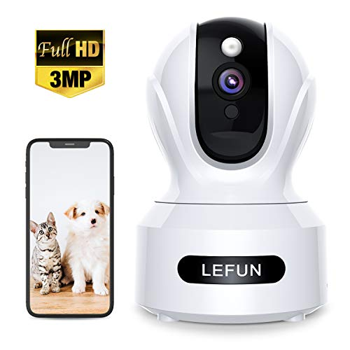 Purchase 3MP Wireless Home Security Camera,Lefun 1536P HD Pet Camera with Sound Detection Motion Tra...