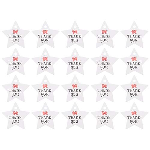 ULTNICE 100 Stück Valentinstag Papier Geschenkanhänger Sternform Danke Vorgebohrten Hängenden Karten Etikett Zeichen für Valentinstag Hochzeit Thanksgiving Thanksgiving DIY Box