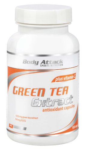 Body Attack Green Tea Extract - Pack of 100 Capsules (Pack of 2)