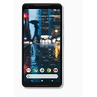 Google Pixel 2 XL Unlocked 64gb GSM/CDMA - 4G LTE 6in P-OLED Display 4GB RAM 12.2MP Camera Phone - Black & White (Renewed) (Black & White, 64 GB) Front Screen Display