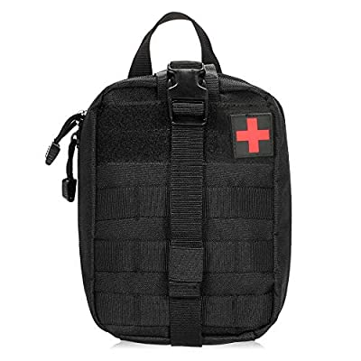 Lixada First Aid Kit Bag, Tactical MOLLE First Aid Kit Medical Pouch -Emergency Survival Responder Bag for Home,Car,Hunting,Workplace,Camping,Travel from Lixada