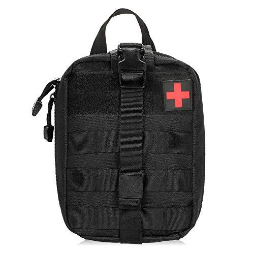 Lixada Erste Hilfe Tasche Molle Taktische Tasche Medizinische Notfalltasche Multifunktional Bauchtasche Beutel für Zuhause Wandern Klettern und Reisen