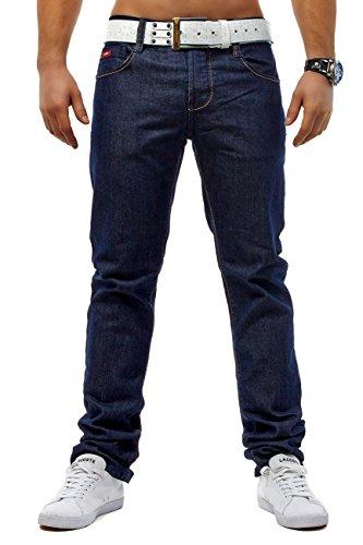 ArizonaShopping Herren Jeans Plaza Hose Singapura ID1194 Slim Fit Gerades Bein, Größe Jeans:W33