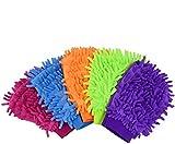 4 Pack Coral Microfiber Car Wash Glove,Random Color Car Scratch-Free Wash Mitt for Car,Housing...