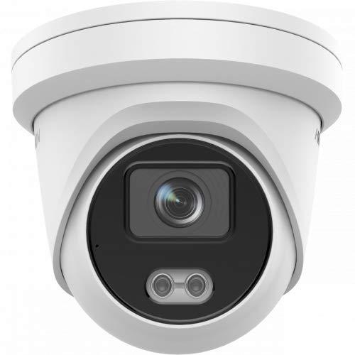 Hikvision DS-2CD2347G2-LU - Cámara de vigilancia (2,8 mm, 4 Mpx, cámara ColorVu IP Turret, imágenes 24/7, con micrófono)