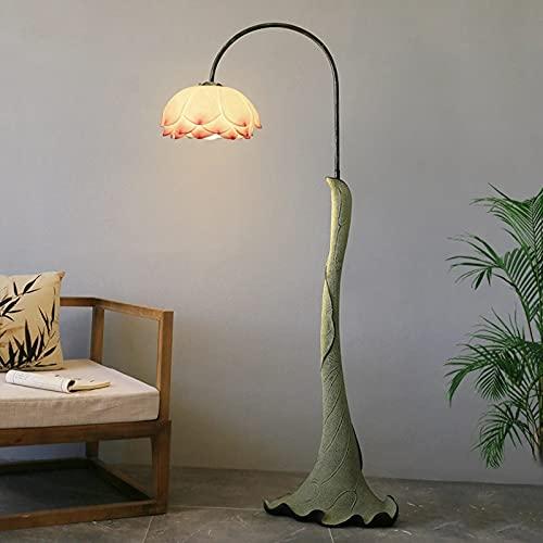 Lámpara De Pie LED China Lámpara De Pie En Forma De Loto Sala De Estar Dormitorio Estudio Decoración Personalidad Artística Vertical Cálida Lámpara De Pie