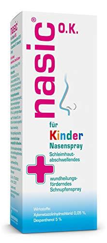 nasic für Kinder O.K. Nasenspray mit dem Wirkplus – Abschwellendes Schnupfenspray ohne Konservierungsstoffe für Kinder ab 2 Jahren – Mit Xylometazolin & Dexpanthenol – 10 ml