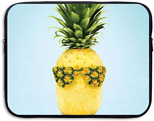 Funny Pineapple Pattern 13 Inch Laptop Computer Sleeve Notebook Cover Case Soft Computer Pouch Laptop Protective Bag Pouch