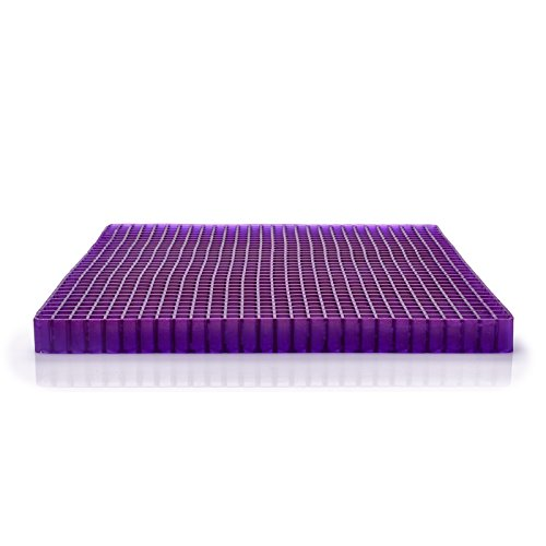 Purple Portable Seat Cushion - Seat Cushion for The Car Or Office Chair - Temperature Neutral Grid