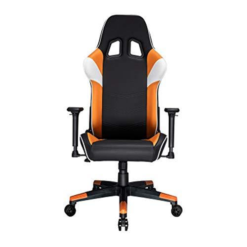 E-Sports - Silla ergonómica para videojuegos, estilo carrera, con respaldo alto más grande y reposabrazos más grandes, color naranja