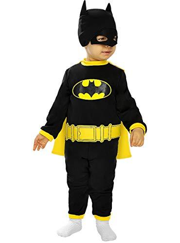Funidelia | Disfraz Batman Oficial para bebé Talla 0-6 Meses ▶ Caballero Oscuro, Superhéroes, DC Comics, Hombre Murciélago - Color: Negro - Licencia: 100% Oficial