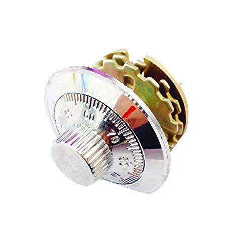 2,2 Zoll Dia Knob Silver Tone Sicherheitsrad Safe Cabinet Combination Lock