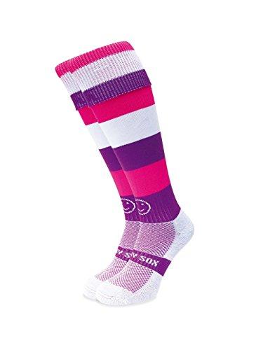 WackySox Lila Smoothie Sport-Socken Junior Shoe Size 12-2