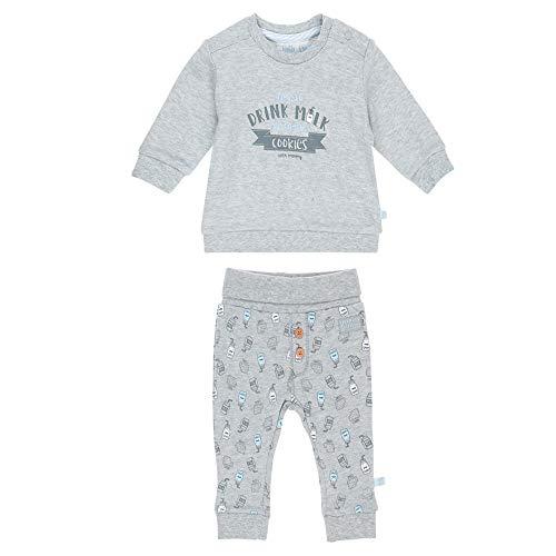 Feetje Baby-Jungen Zweiteiliger Sweat-Anzug Drink Milk, grau Melange, 50
