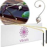 Vibratis Baguettes de Sourcier Professionnelles & Pendule Divinatoire | Pack Idéal pour Commencer la Radiesthésie [𝗚𝗔𝗥𝗔𝗡𝗧𝗜 𝗔 𝗩𝗜𝗘]