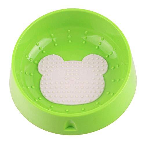 Sned mun katt hund skål skydd cervica kotor tunga rengöring husdjur matskålar giftfria hundar matning mat vatten rätter – björn grön_Kina