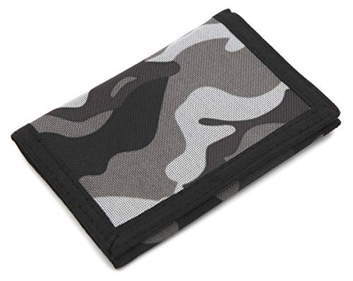 RFID Slim Camouflage Wallet / Trifold Canvas Outdoor Sports Wallet for Boys...