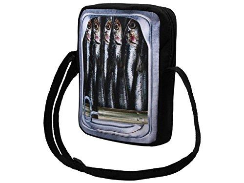 Alsino Messenger Bag klein Umhängetasche College Tasche Retro Messengertasche Schultertasche, Variante wählen:MEB-k032 Sardinendose