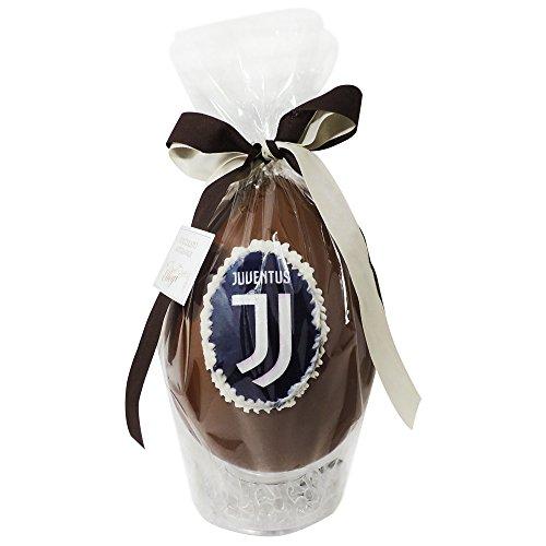 Uovo di Pasqua ARTIGIANALE della JUVENTUS con SORPRESA da 350 grammi - Cioccolato al latte Squadre di Calcio (Juventus, 350 gr)