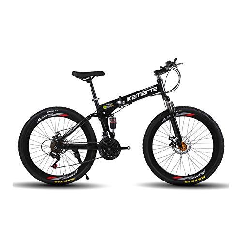 Vélo Pliable, 21/24/27 Vitesses, VTT Adulte, 24/26 Pouces, vélo, vélo de Route, Pliable, Double Frein à Disque, Cadeau,-24 Stage shift-26inches