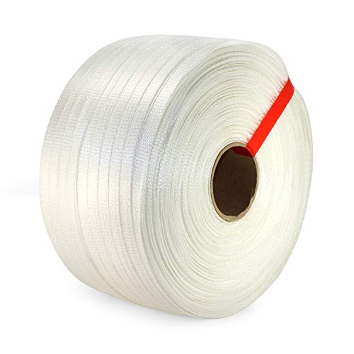 """IDL Packaging 3/4"""" Heavy Duty Woven Cord Strapping Roll, 1640' Length, 1830 lb. Break Strength, 6"""" x 3"""" Core"""