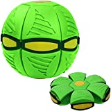 TAIYANYU Magic Decompression Multi-Function UFO Ball, Vent Ball Toy Deformed Flying Saucer Ball for Children's Gifts Green (with Light)