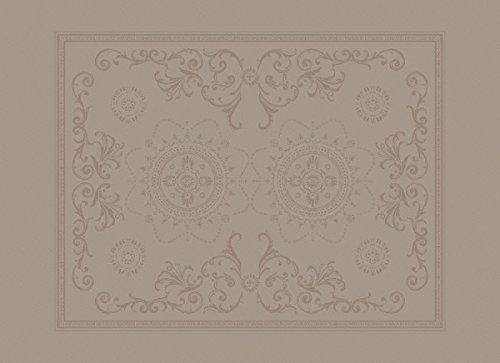 Garnier-thiebaut eLOISE vert damassé avec set de table sweet protection macaron (54 x 39 cm vE = 4)