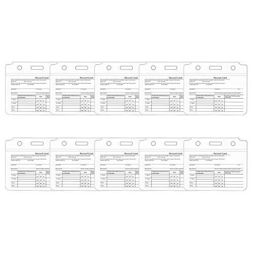UOWEG 3/5/10 Stk Impfausweishülle | Impfpasshülle | Einsteckhülle für den Internationalen Impfausweis | aus genormt, mit Extrafach für Terminkarte oder Visitenkarte, Arbeitskartenstapel