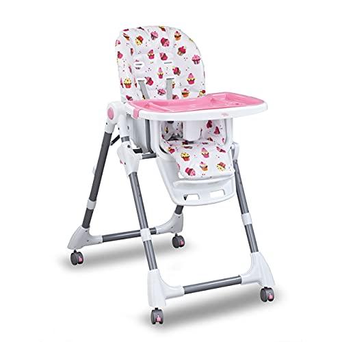 Cadeira Cadeirão Alimentação Bebe Cherry Baby Style (ROSA)