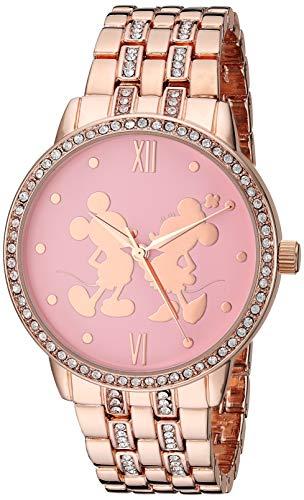Disney Women's Mickey Analog-Quartz Watch with Alloy Strap, Rose Gold, 20 (Model: WDS000680)
