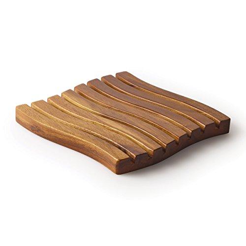 Kamenstein - Salvamanteles de madera de acacia, color natural