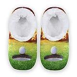 linomo Zapatillas de fútbol de golf, unisex, para mujer, hombre, de invierno, cálidas, para interior, para dormitorio, calcetines, color Multicolor, talla 40/42 EU